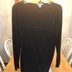 Barr 3 black layered mini dress